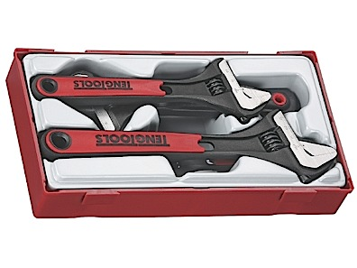 TTADJ04 Teng Tool Adjustable Wrench Set